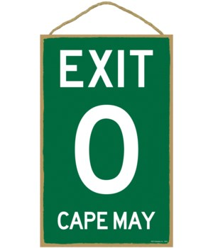 Exit 0 Cape May 10 x 16 sign