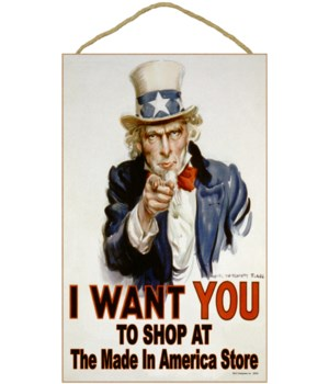 I WANT YOU to order USA made signs from