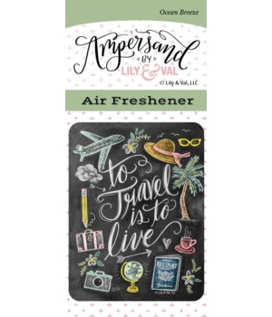 To Travel Air Freshener (Ocean Breeze)