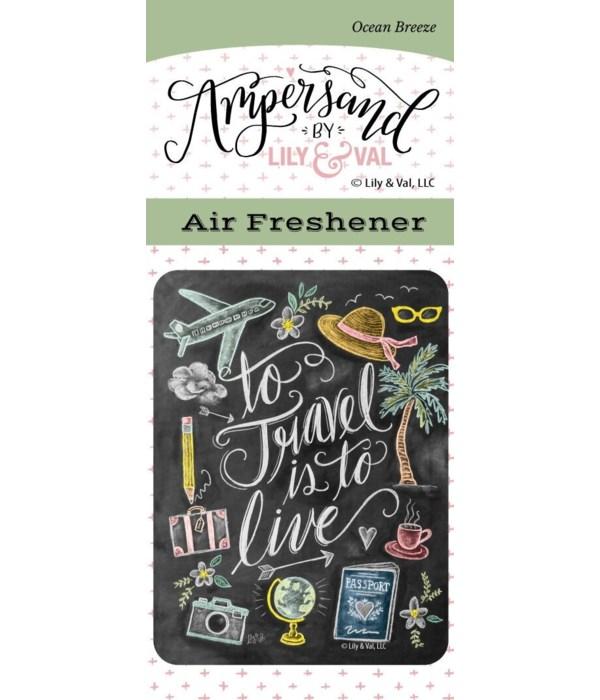 To Travel Air Freshener (Ocean Breeze)