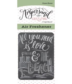 Love & the Beach Air Freshener (Ocean Br