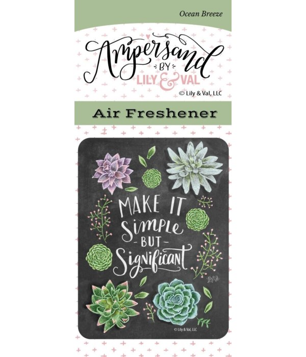Simple but Significant Air Freshener (Oc