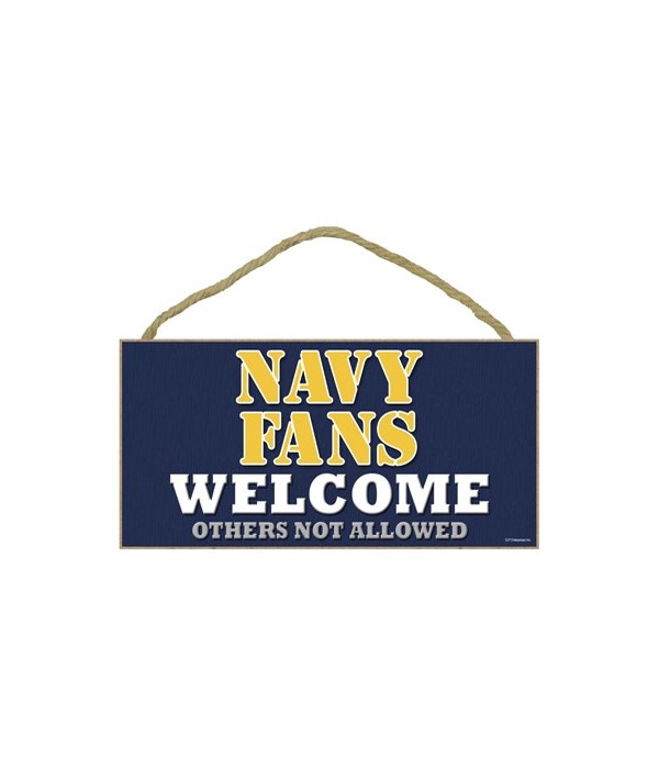 Navy (US Military) welcome sign