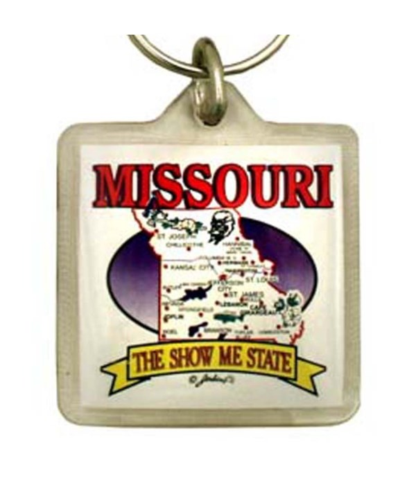 MO Keychain Lucite State Map