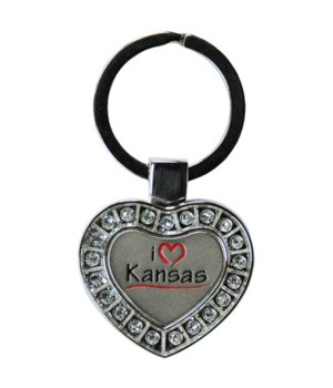 KS Keychain Metal Heart I Luv