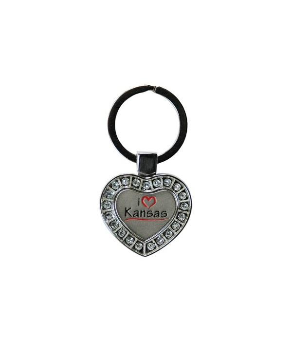 KS Keychain Metal Heart I Luv