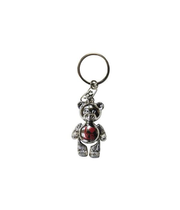 KS Keychain Metal Teddy Bear