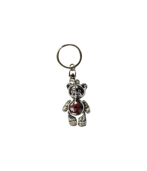 KY Keychain Metal Teddy Bear