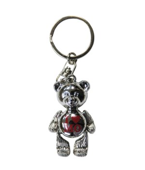 MO Keychain Metal Teddy Bear