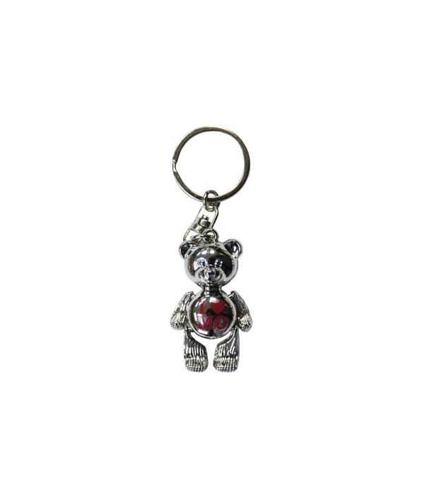 MO Keychain Metal Teddy Bear