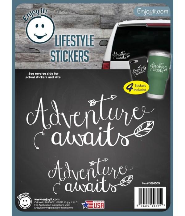 Adventure Awaits Stickers