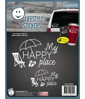 My Happy Place Stickers