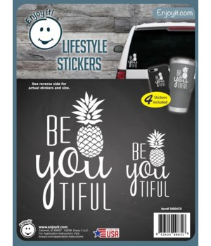 Be You Tiful Stickers