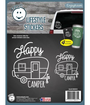 Happy Camper Stickers
