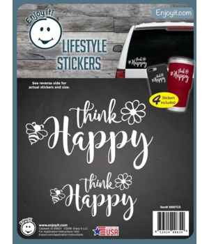 Think Happy Be Happy Stickers