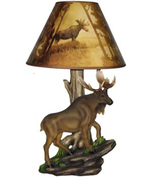 "Moose Lamp 20""(+shade)"