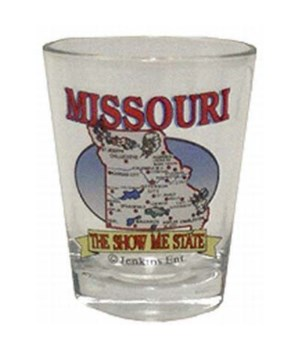 MO Shot Glass State Map