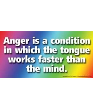 Anger is a condition in which the tongue