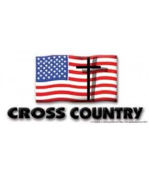 Cross Country. 4x8 Car Magnet