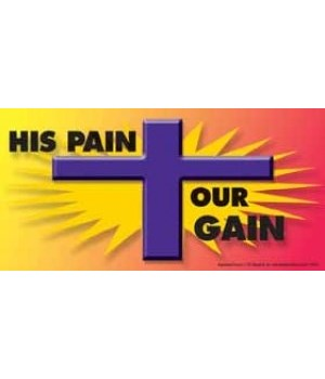 His pain, our gain. 4x8 Car Magnet