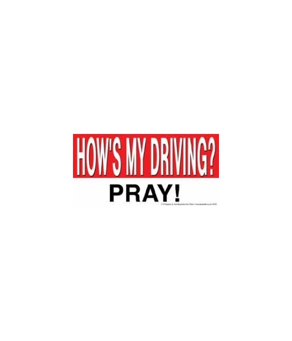 How's my driving? PRAY! 4x8 Car Magnet