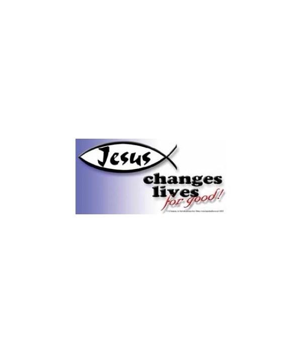 Jesus changes lives for good. 4x8 Car Ma