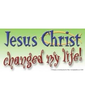 Jesus Christ changed my life. 4x8 Car Ma