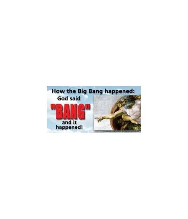 "How the ""big bang"" happened: God said ""B"