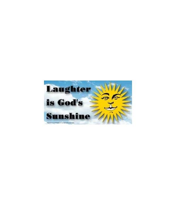 Laughter is God's sunshine. 4x8 Car Magn