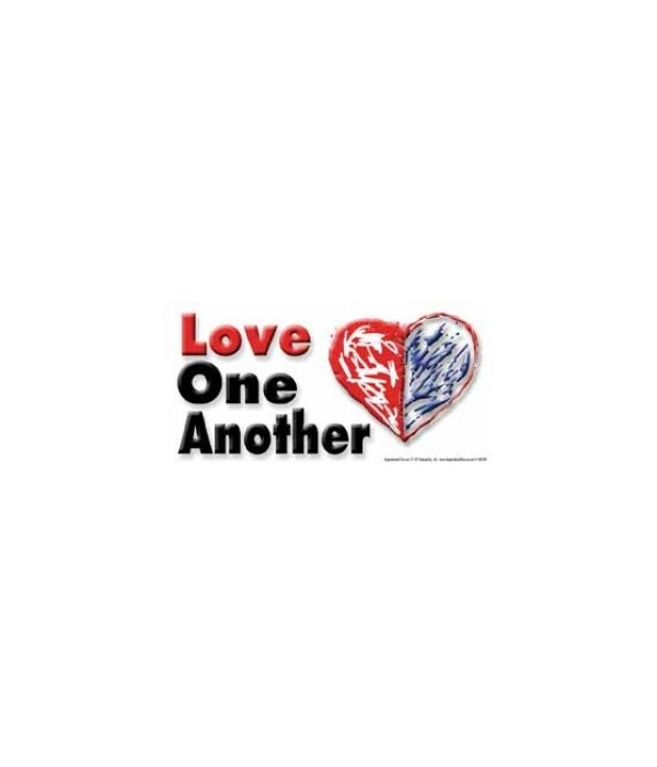 Love one another. 4x8 Car Magnet