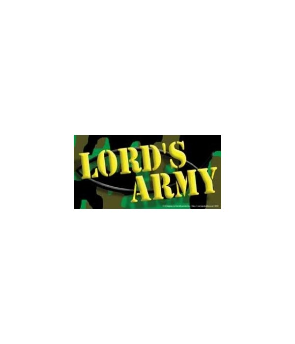 Lord's Army. 4x8 Car Magnet