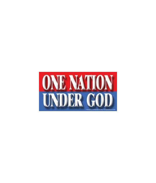 One nation under God. (red, white and bl
