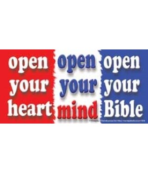 Open your heart. Open your mind. Open yo
