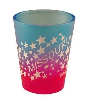 MO Shot Glass Multi-Color Stars