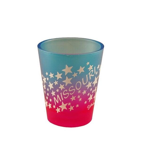 MO Shot Glass Multi-Color Stars
