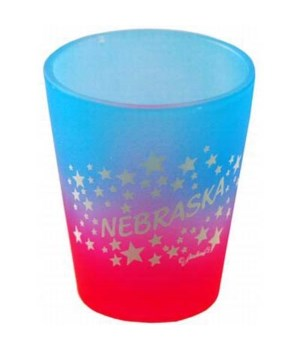 NE Shotglass Multi-Color Stars