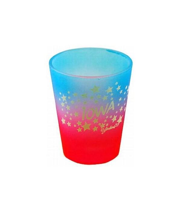 Iowa Shotglass Multi Color Stars