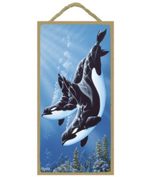 Apollo - (no IMPRINT) 2 Orcas diving dow