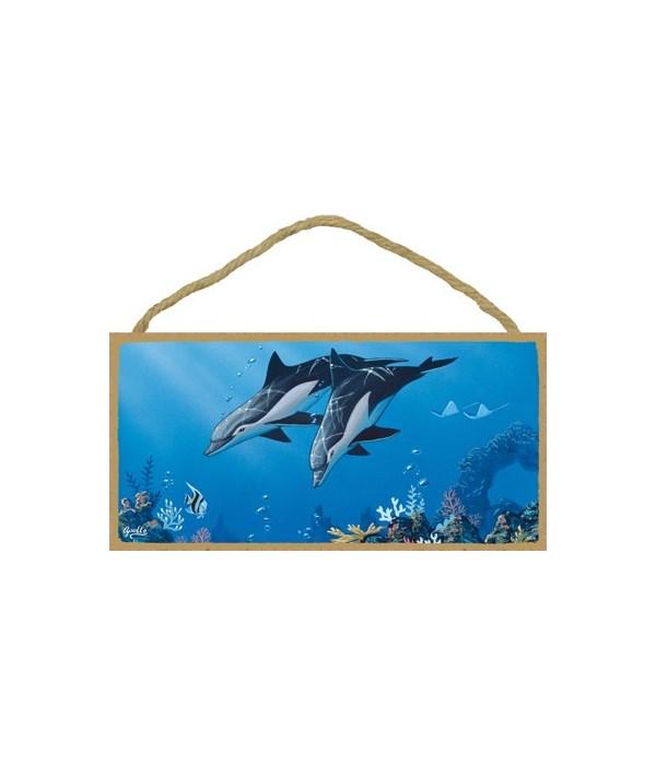 Apollo - (no IMPRINT) 2 Dolphins swimmin