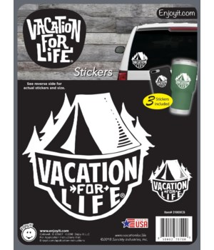Tent - Vacation For Life Stickers