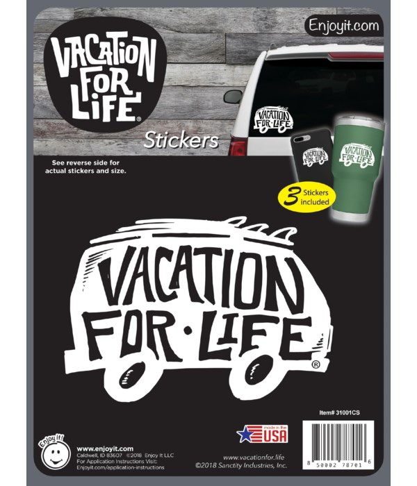 Bus - Vacation For Life Stickers