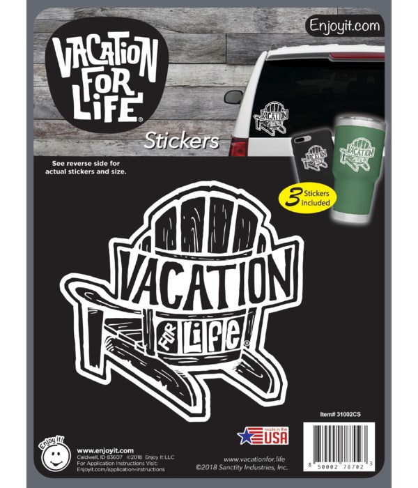 Chair - Vacation For Life Stickers