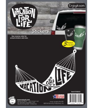 Hammock - Vacation For Life Stickers