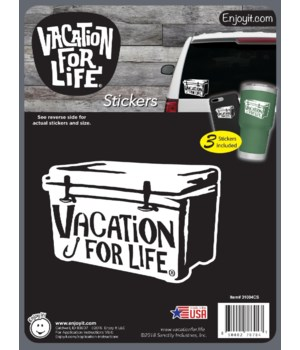 Cooler - Vacation For Life Stickers