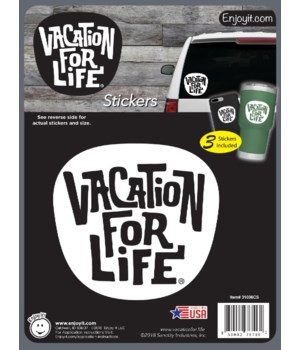 Vacation For Life Logo Stickers