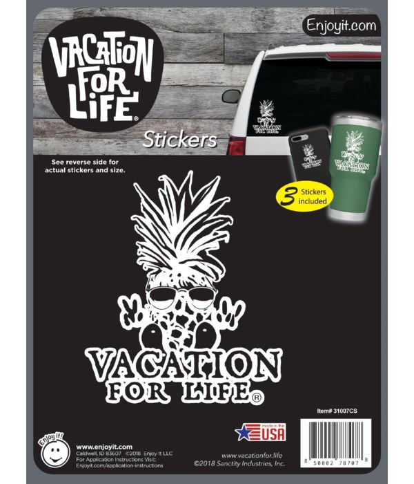 Pineapple Guy - Vacation For Life Sticke