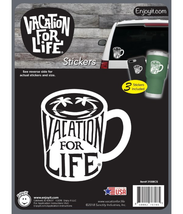 Mug - Vacation For Life Stickers