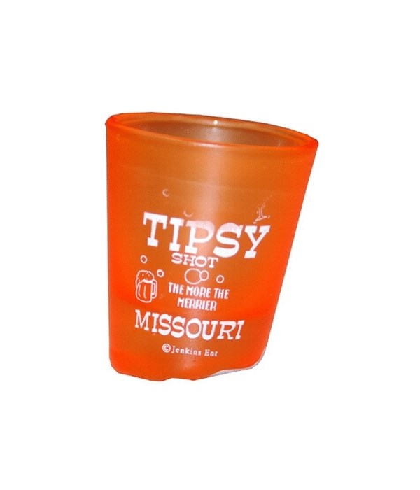 MO Shot Glass Tipsy 4 Assorted Colors