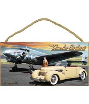 Amelia Earhart (Plane & Car) 5x10
