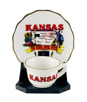 KS Cup & Saucer State Map